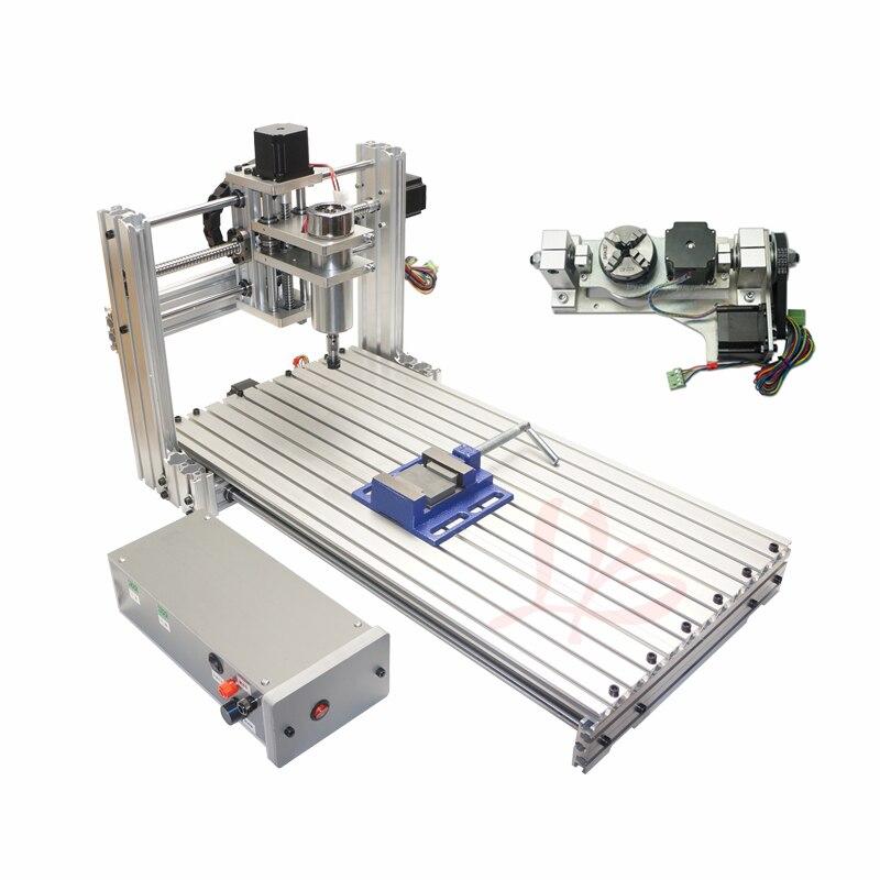 Routeur de CNC 6020 PCB graver la machine de CNC de routeur en bois de machine avec l'axe rotatoire et les kits de forage
