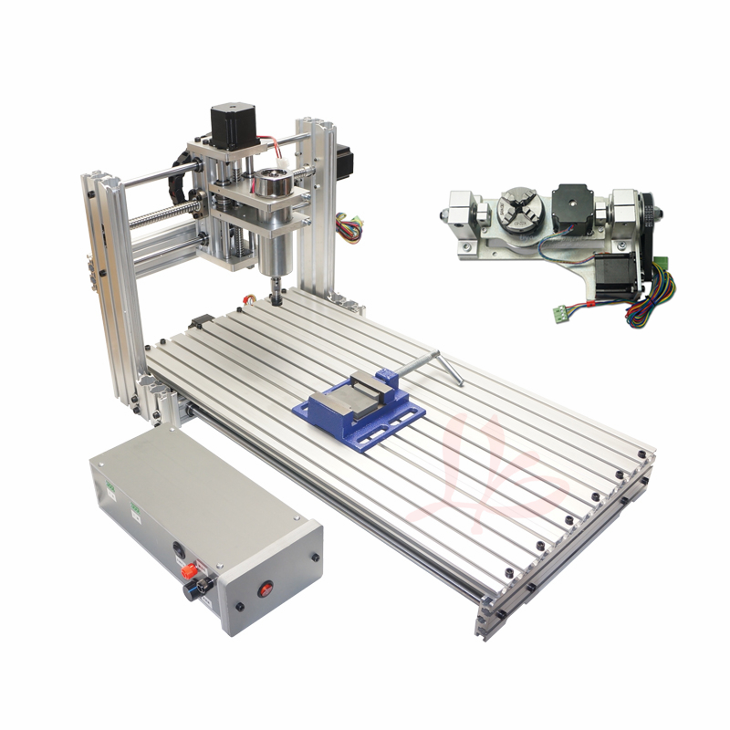 Cnc Router 6020 PCB Engrave Machine Wood Router Cnc Machine With Rotary Axis And Drilling Kits