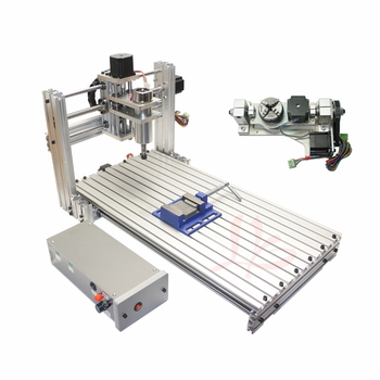 cnc router 6020 PCB engrave machine wood router cnc machine with rotary axis and drilling kits desktop cnc machine 3040z usb mach3 control pcb milling machine drilling router with handwheel