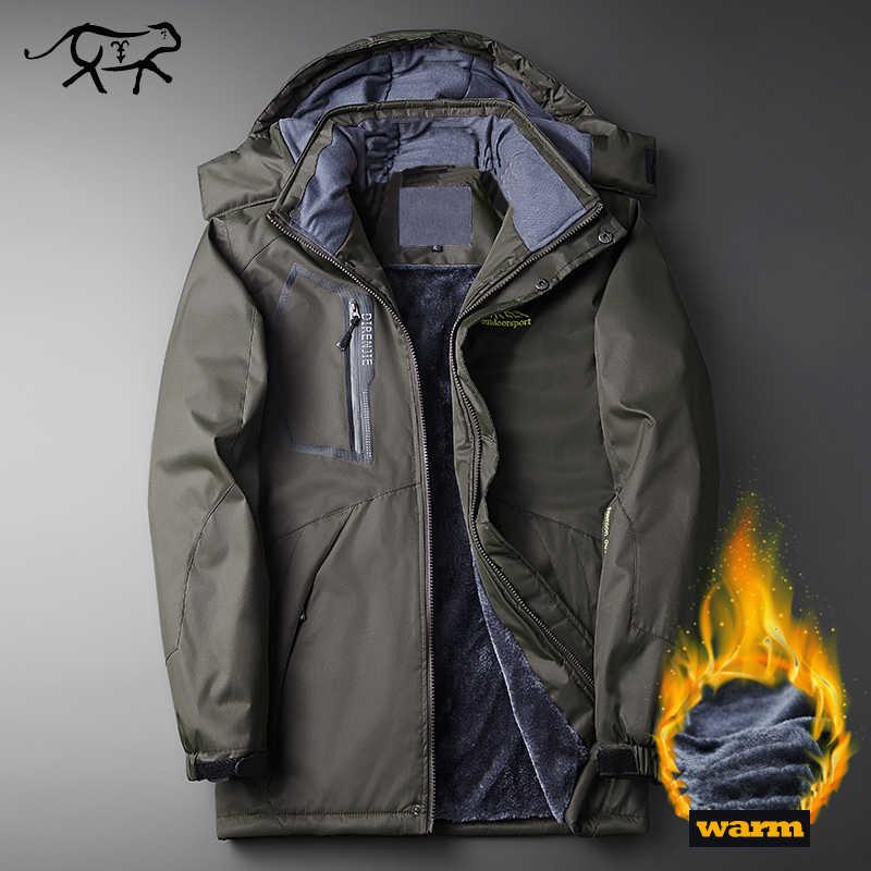 Новая брендовая одежда зимняя куртка мужская непромокаемая Военная Парка  мужская с капюшоном повседневные теплые мужские пальто 5424710375e
