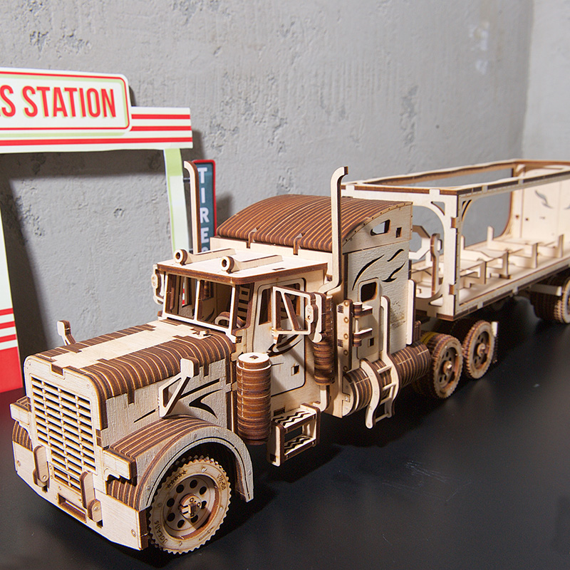 Bricolage Ukrainien Ugears En Bois Mécanique Transmission Camion Modèle Creative Adulte Assemblé Jouets pour le Cadeau