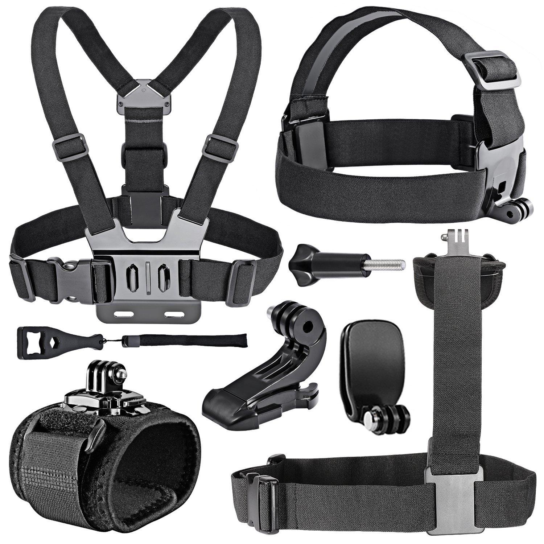 8 in 1 Sport Kit Exterior Accessories Indispensable for Gopro HD Hero4 Hero 1 2 3 3+ 4, SJ4000, SJ5000, SJ6000 and all
