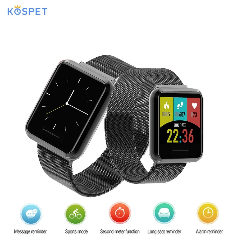 Montre intelligente Kospet DK08 originale 1.28 ''écran tactile surveillance de la fréquence cardiaque étanche BT Sport Smartwatch pour iOS Android