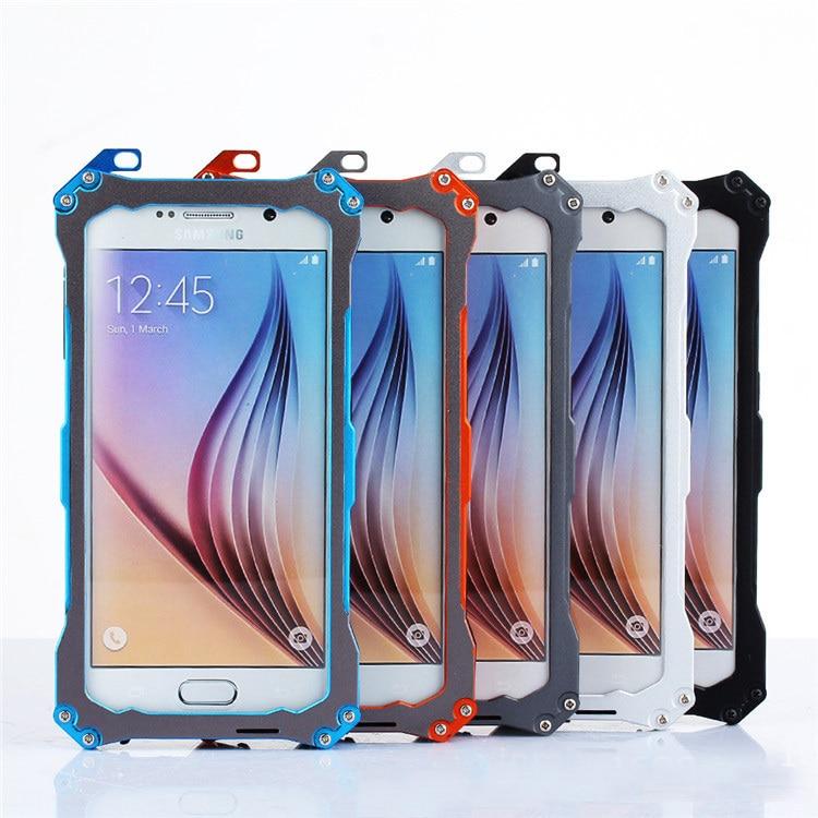 Цена за Высокое качество Водонепроницаемый противоударный металлический алюминиевый Gundam Открытый Восхождение Чехол для Samsung Galaxy S6 закаленное стекло