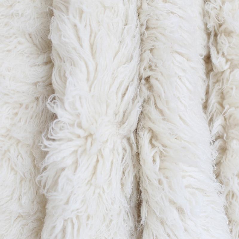 Faux Flokati Fur Newborn Wool Blanket
