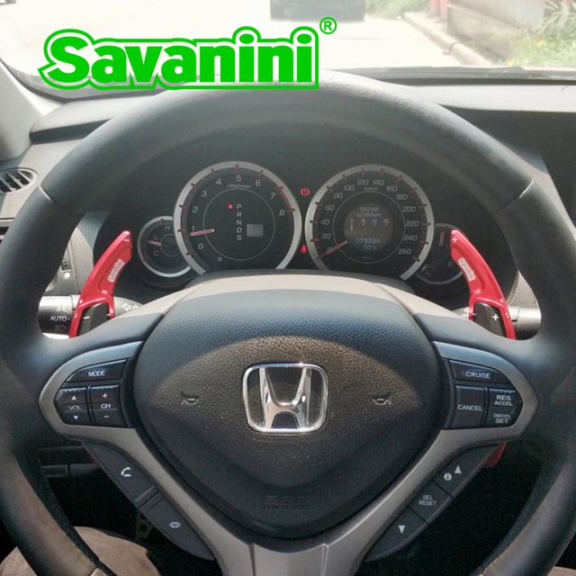 Savanini Steering Wheel Shift Paddle Extension For Honda Spirior 2009 2017 Acura