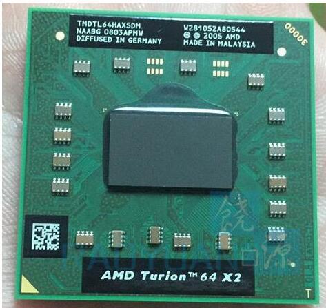 AMD Turion 64X2 TL-64-TMDTL64HAX5DM 1 m Cache/2.2 ghz/Prise S1 (S1G1) /Dual-Core Ordinateur Portable processeur TL64 TL 64 CPU