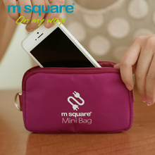 M Square Travel Accessories Cable Accessories Storage Organizer Clutch Mini Phone Bag Card Holder