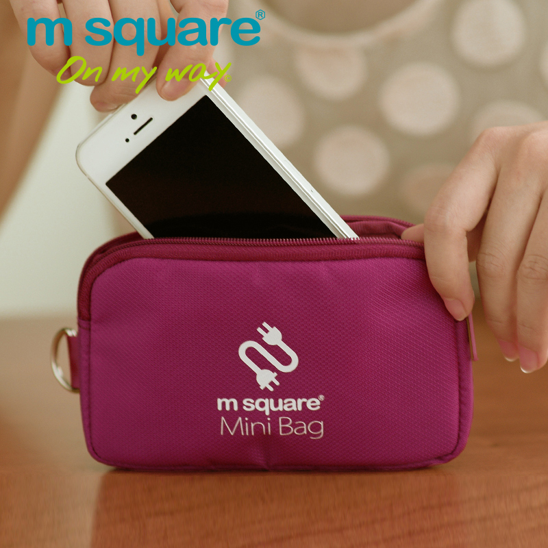 M Square Travel Accessories Cable Accessories Storage Organizer Clutch Mini Phone Bag Card Holder