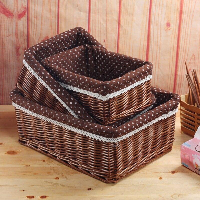 Плетеные корзины ZAKKA корзина для хранения игрушки коробка беспорядок на рабочем столе Корзина для пикника макияж органайзера