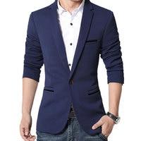 New Fashion 2016 Spring Autumn Casual Suits Men Slim Business Dress Suits Jacket 4 Solid Color