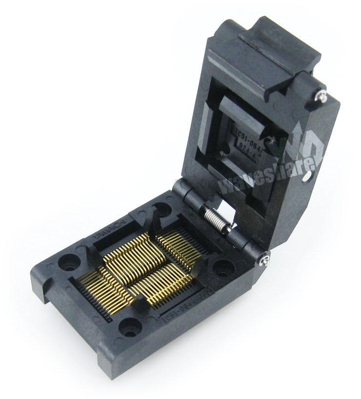 Test Yamaichi IC et prise de rodage, pour le paquet QFP64/TQFP64/FQFP64/PQFP64Test Yamaichi IC et prise de rodage, pour le paquet QFP64/TQFP64/FQFP64/PQFP64