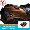 YCSUNZ оранжевая черная крышка капота, крышка капота, лопатка, автомобильные запчасти, аксессуары для Ford Everest Ranger T7 wildtrak 2016 2017 2018
