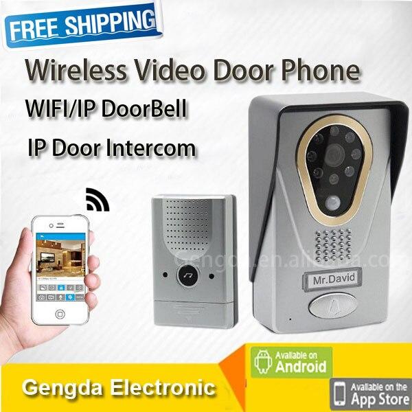 Audio Wireless Video Door Phone Ip Door Intercom Remote Control Door Unlock  Video Recording Wifi Door
