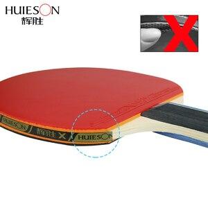 Image 3 - Huieson 2 יח\סט קלאסי 5 רובדי עץ מלא שולחן טניס מחבטי כפול פנים גומי עטלפי טניס שולחן עבור בני נוער
