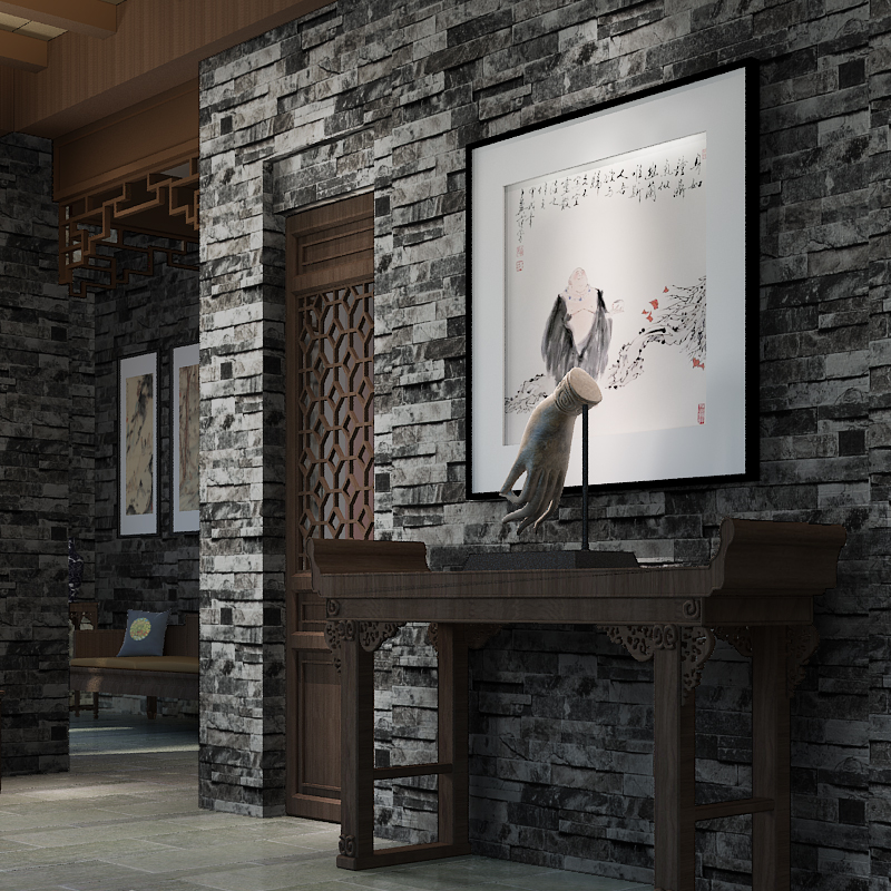 beibehang Modern Chinese 3D gray brick pattern wallpaper antique brick personalized restaurant bar retro red brick wallpaper chinese retro personalized brick pattern wallpaper restaurant restaurants hotels dedicated wallpaper