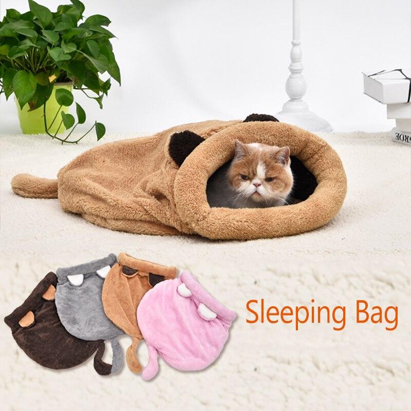 Nette Katze Schlafsack Warm Hund Katze Bett Hund Haus schönen Weichen Haustier Katze Matte Kissen Hohe Qualität Produkte Schönes Design 4 Farben