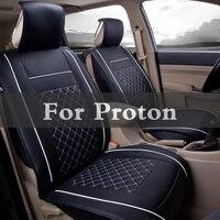 New Soft Leather Seats Pu Protector Leather Auto Car Seat Covers For Proton Inspira Perdana Persona Preve Saga Satria Waja
