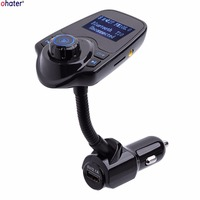 ohater Car MP3 Audio Player Bluetooth FM Transmitter Wireless FM Modulator Car Kit HandsFree LCD Display USB Charger