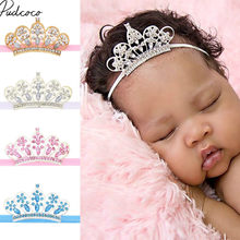 2018 Brand New Toddle Newborn Baby Girl Princess Crown Crystal Diamond Tiara Hair Headband Hair Dress Photo Props Baby Gifts(China)