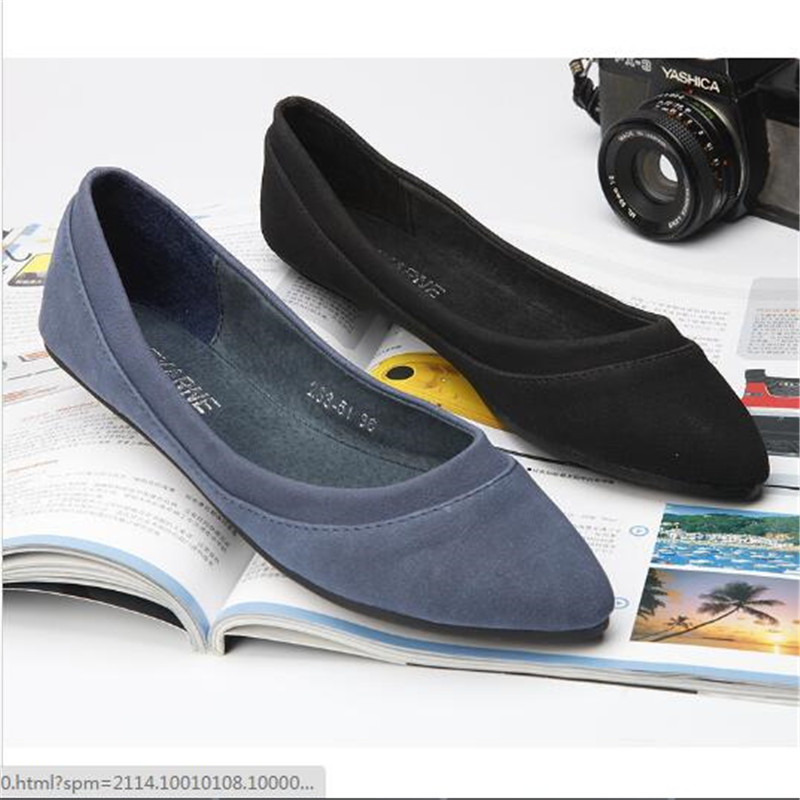 Ladies Shoes Ballet Flats Women Flat Shoes Woman Ballerinas Black Large Size 40 Casual Shoe Sapato Womens Loafers Zapatos Mujer