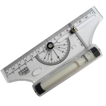 1pcs 7 + 7cm-centering universal ruler student teachers to practice drawing geometric science and technology mapping roller foot