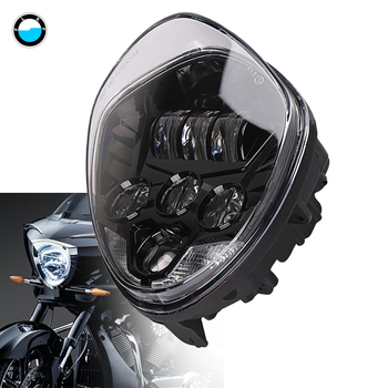 1PCS 60W Motorcycle Driving Lights  LED Headlight Headlamp Kit with High & Low Beam for Victory 2010-2016 Cross Models.