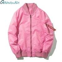 Grandwish Pink Bomber Jacket Men Hip Pop 7 Colors Mens Bomber Jackets Slim Fit Men S