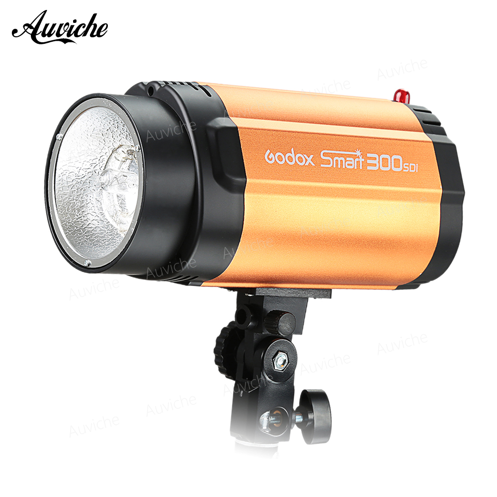 GODOX Smart 300SDI Strobe Photo Flash Studio Light 300w Pro Photography Studio Lamp head 110V 220V godox smart 300sdi 300ws flash studio photography light orange ac 220v 3 flat pin plug