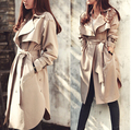 2017 new spring fashion/Casual women's Trench Coat long Outerwear loose clothes for lady good quality