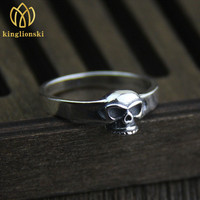 Wholesale Original Design Retro Silver Personality Skeleton Ring Men And Women 925 Silver Plated Finger Ring