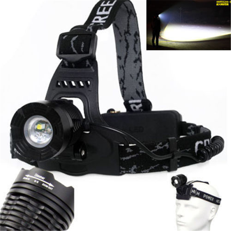 High Power Zoom XM-L T6 LED Headlight 2000 Lumens Headlamp Camping Head Light Lamp Adjustable 18650 led Head Torch Lamp 10000 lumens led head light zoom headlamp t6 cob headlight usb light led head lamp flashlight torch for 2 18650 battery