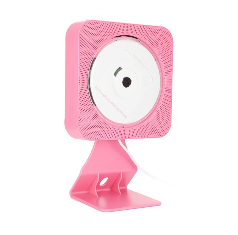 New Wall Mounted Bluetooth DVD CD Player Speaker with Remote Control (Pink US) cute rabbit 3w bluetooth 2 1 ch speaker w tf remote control white pink