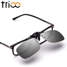 Driving Sunglasses Clip Men Flip Up Lens For Eyeglasses