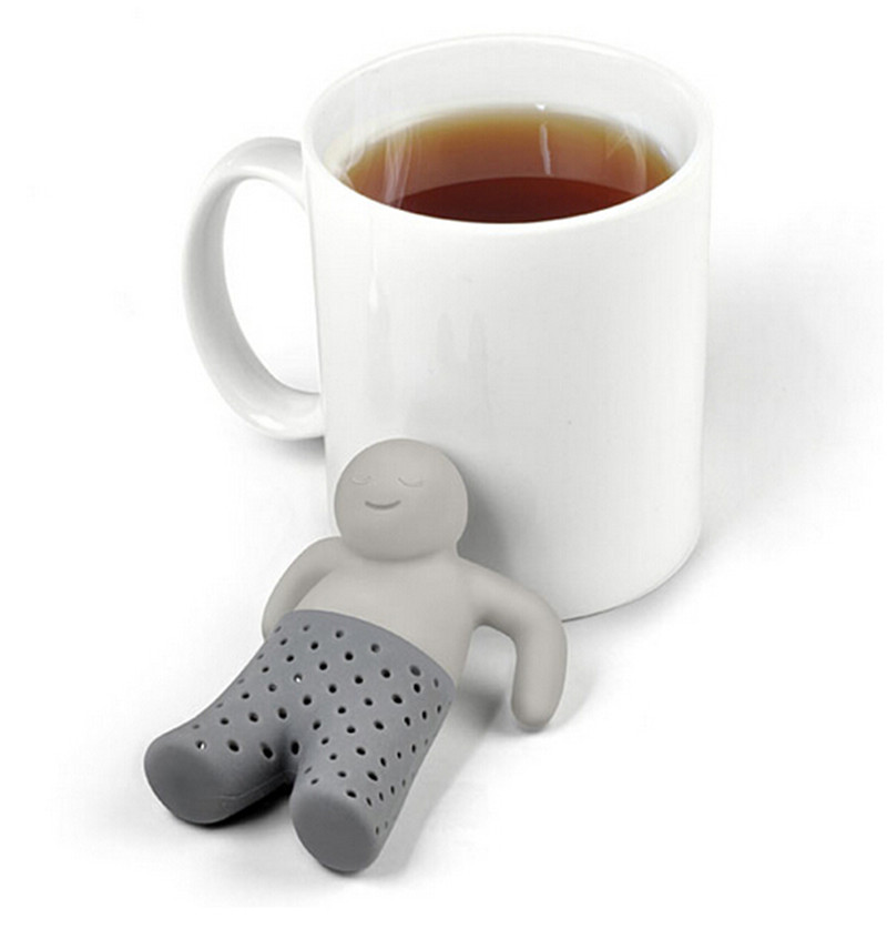 New Arrival Mr.Tea Infuser Loose Tea Leaf Strainer Herbal Spice Silicone Filter Diffuser