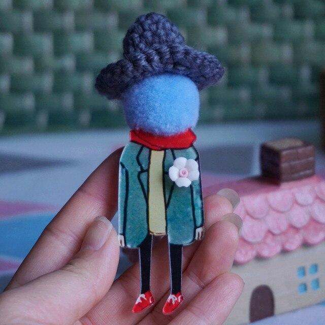 Carino Gioielli Spilla Spille per la Donna Degli Uomini del cappello di Spille modelli Del Fumetto di Modo Vestiti spilla Accessori