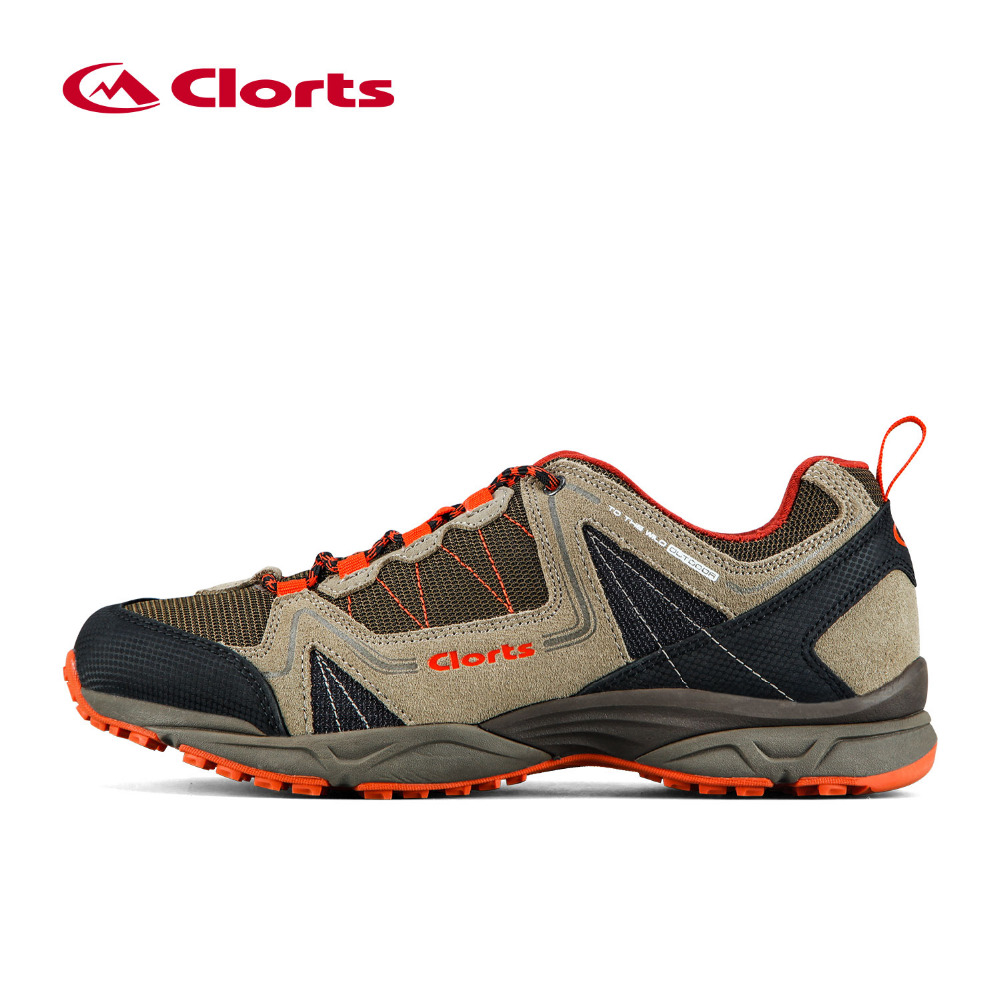 ФОТО 2016 Clorts Men Hiking Shoes Mesh Breathable Outdoor Sneakers Anti-slipping Hiking Boots 3D028A/B