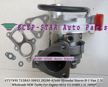 Free Ship GT1749S 715843 715843 5001S 28200 42600 Turbo Turbocharger For Hyundai Starex H1 H200 H