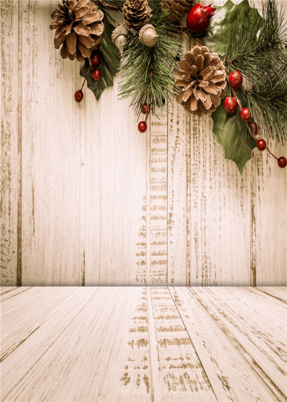 Baby Photography Backgrounds Wooden Floor Vinyl Photo Backdrops Christmas Studio Props 5x7ft or 3x5ft  JieQX513