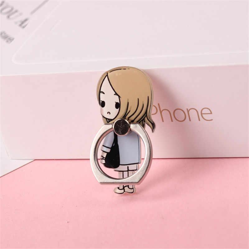 Kartun Anime 360 Derajat Jari Cincin Ponsel Stand Smartphone Pemegang untuk Iphone Samsung Xiaomi Semua Smart Phone Berdiri