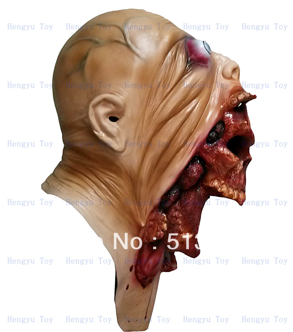 Online Shop Melting Face Zombie Bloody Undead Horror Adult Latex ...
