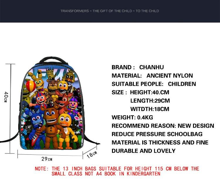 Аниме пять ночей в Фредди рюкзак для подростков Обувь для мальчиков Обувь для девочек Школьные ранцы печать мультфильм Сумки Детская школь...