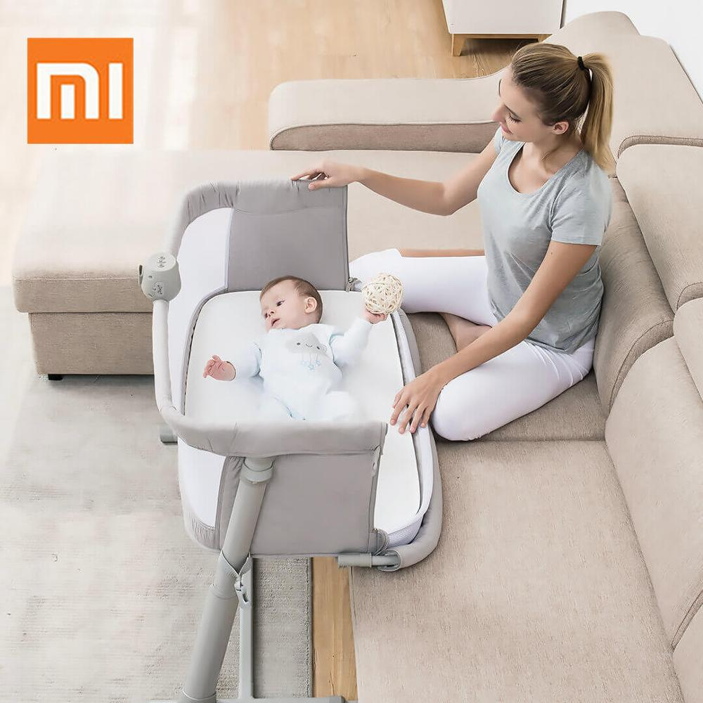 Xiaomi Baby Care Bed  Furniture With Bedbell Portable Infant Travel Sleeper Cot Sleeper Breathable Folding Crib Toddler Cradle(China)