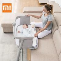Xiaomi детская кровать для ухода за ребенком мебель с постельным колокольчиком портативная детская дорожная спальная кроватка спальная дышащ
