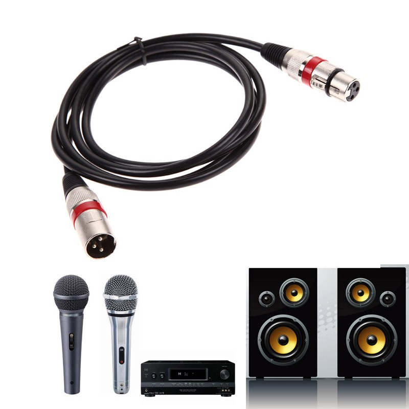1.8/3/8/10m XLR Cable Male to Female M/F 3pin jack Audio Cable For Microphone Mixer MIC Shielded Cable microphone audio cord 3 5mm male to female audio extender cable w microphone black white