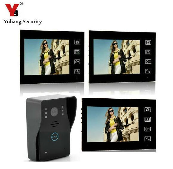 Yobang Security 7inch Wireless Video Door Phone intercom Doorbell Wireless Video Intercom IR Camera Monitor 150M Transmission