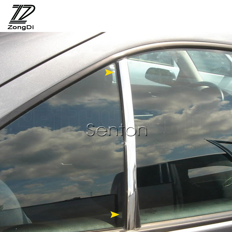 ZD 6-30mm Car Styling Chrome Decor Strip Stickers For <font><b>Mercedes</b></font> W203 W211 W204 <font><b>W210</b></font> <font><b>Benz</b></font> BMW F10 E34 E30 F20 X5 E70 <font><b>Accessories</b></font> image