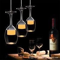 Modern Brief Red Wine Bottle Led Crystal Pendant Lamp 1 3 56 Heads Luxury Restaurant Lamp