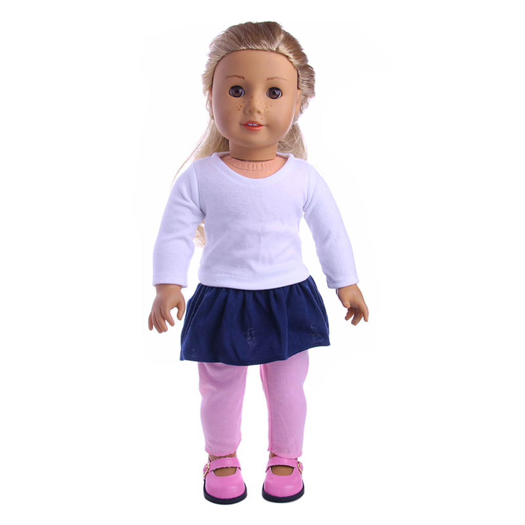 3pcs Cute Clothes Set Coat and Skirt Accessory for 18inch AG American Doll Accs