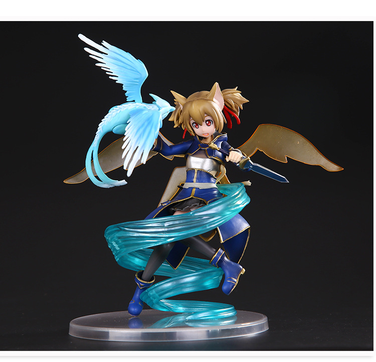 Aciton figure toys Sword Art Online Shirica PVC action toys 18cm